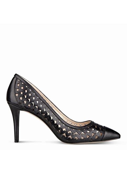 Nine West Deri İnce Topuklu Ayakkabı Siyah
